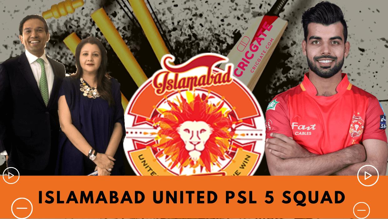 Islamabad United PSL 5 Squad