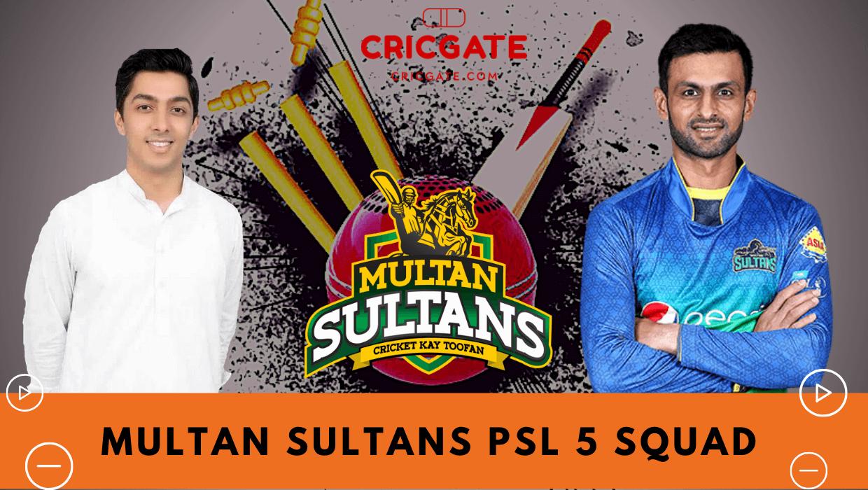Multan Sultans PSL 5 Squad
