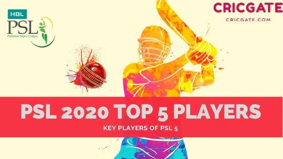 PSL 2020 Top 5 Players