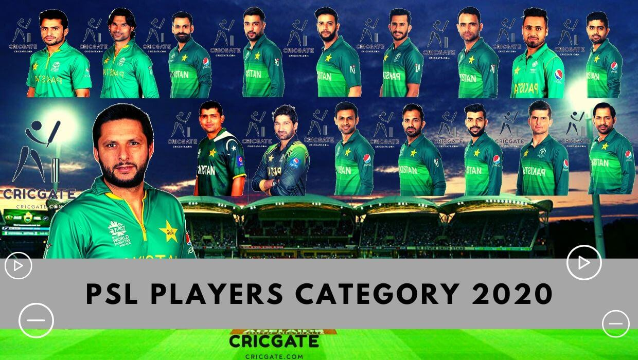 PSL Players Category 2020