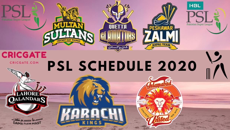 PSL 5 Schedule 2020