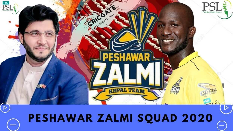 Peshawar Zalmi Squad 2020
