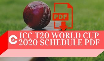 ICC T20 World Cup 2020 Schedule PDF