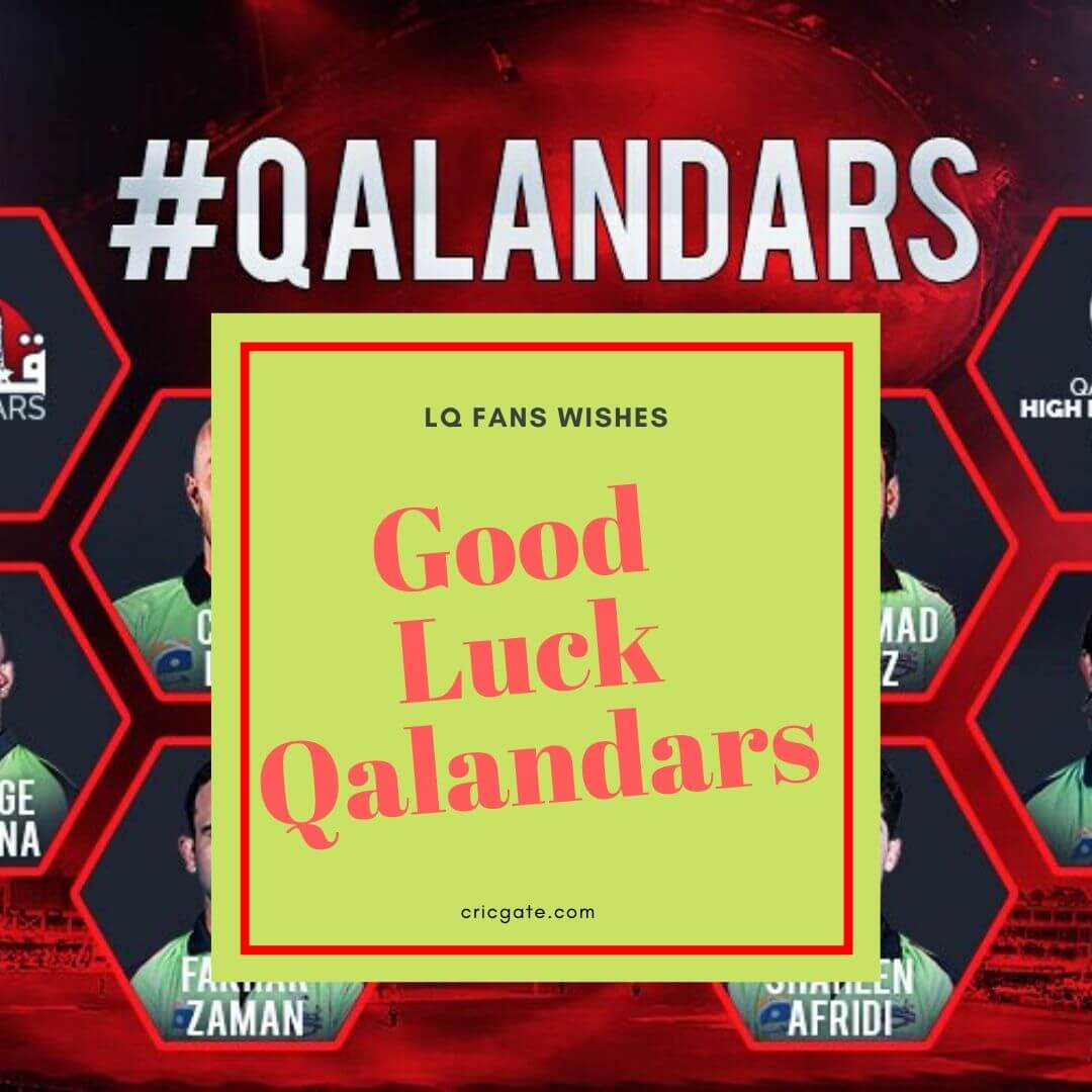 Good Luck Qalandars