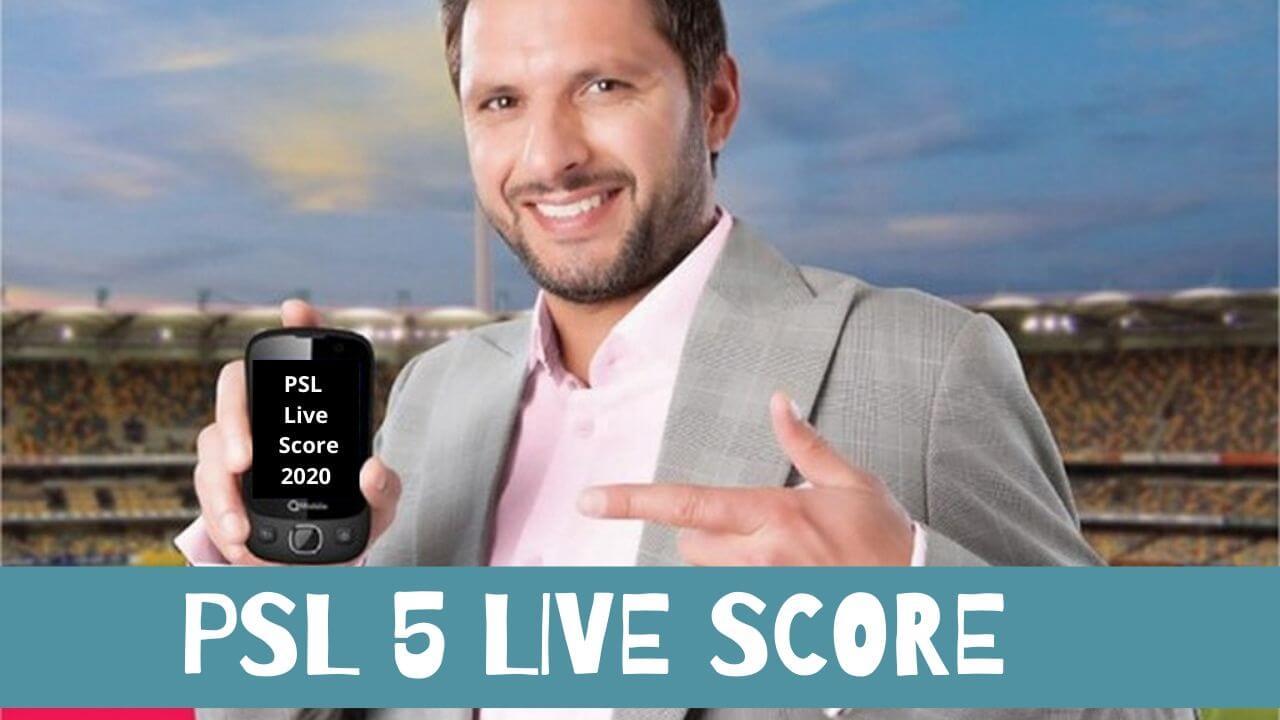 PSL Live Score 2020