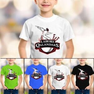 Lahore Qalandars PSL Name Printed T shirts for Kids